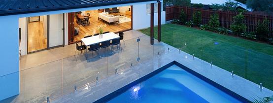 Frameless glass pool kit